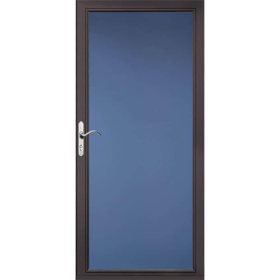 Pella Select Low-E Brown Full-View Aluminum Standard Storm Door (Common: 32-in x 81-in; Actual: 31.75-in x 79.875-in)