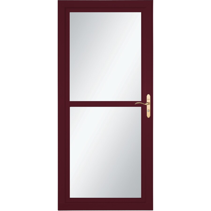 LARSON Tradewind Selection Cranberry Full-View Aluminum Storm Door with Retractable Screen (Common: 32-in x 81-in; Actual: 31.75-in x 79.75-in)