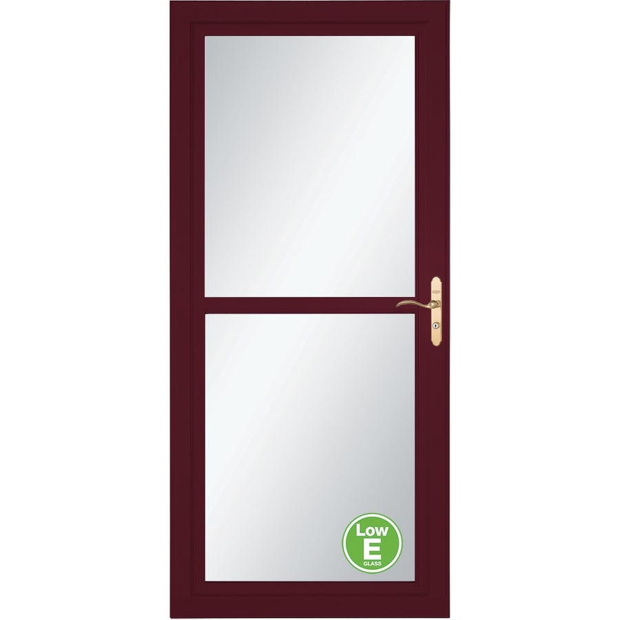 LARSON Tradewind Selection Cranberry Full-View Aluminum Storm Door with Retractable Screen (Common: 36-in x 81-in; Actual: 35.75-in x 79.75-in)