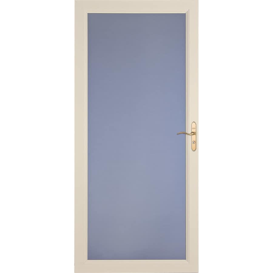 LARSON Signature Classic Almond Full-View Aluminum Standard Storm Door (Common: 36-in x 81-in; Actual: 35.75-in x 79.75-in)