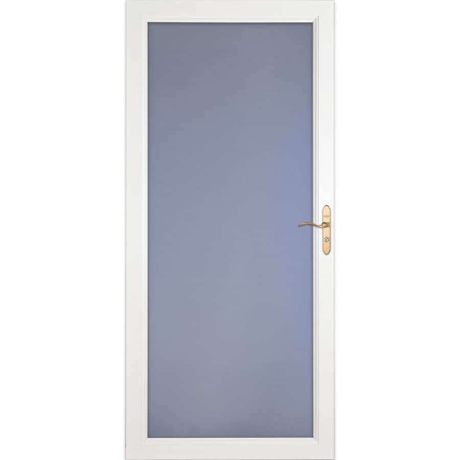 LARSON Signature Selection White Full-View Aluminum Standard Storm Door (Common: 32-in x 81-in; Actual: 31.75-in x 79.75-in)