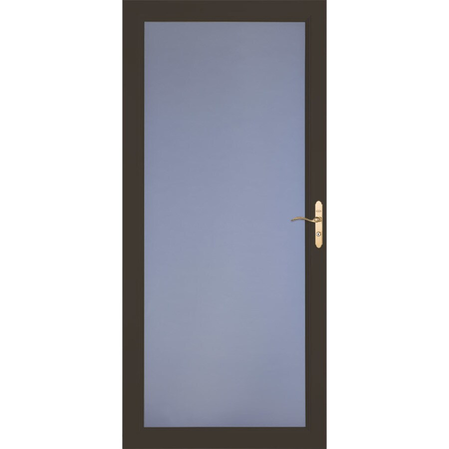 LARSON Signature Selection Brown Full-View Aluminum Storm Door (Common: 32-in x 81-in; Actual: 31.75-in x 79.75-in)
