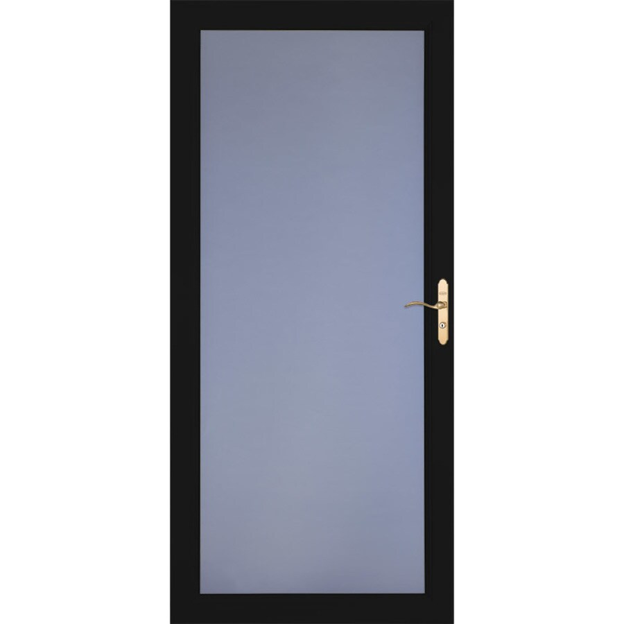 LARSON Signature Classic Black Full-view Aluminum Standard Storm Door (Common: 32-in x 81-in; Actual: 31.75-in x 79.75-in)