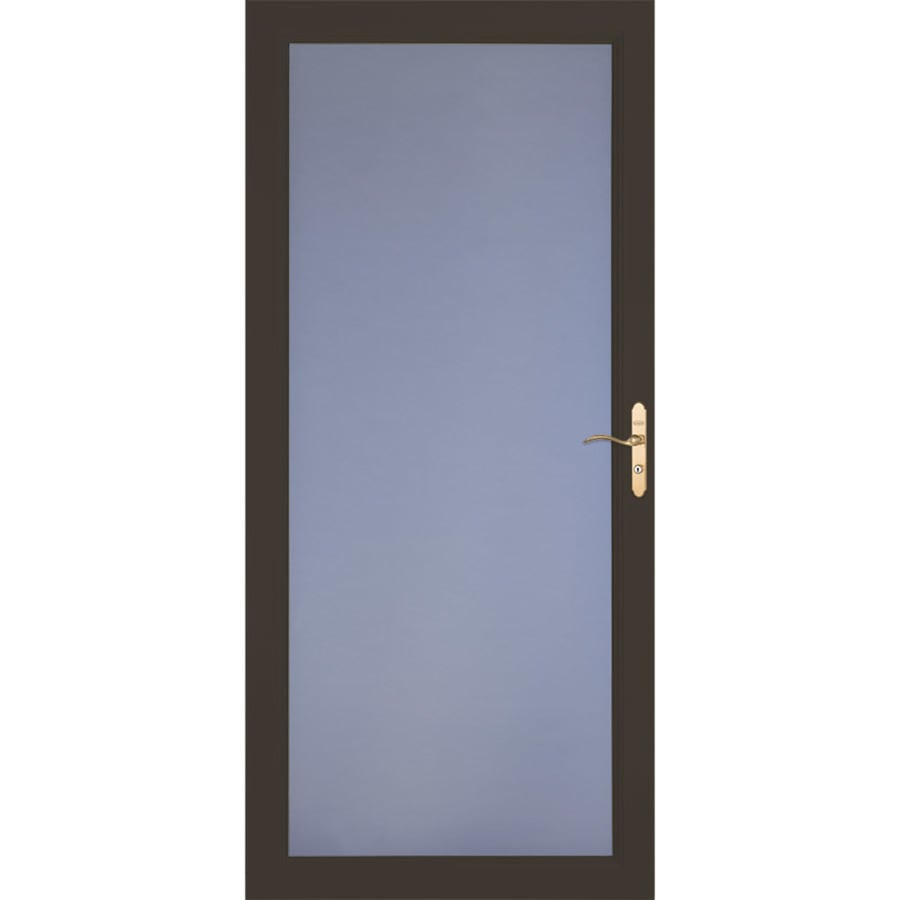 LARSON Signature Selection Brown Full-View Aluminum Standard Storm Door  (Common: 36-in x 81-in; Actual: 35.75-in x 79.75-in)