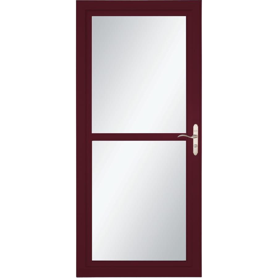 LARSON Tradewind Selection Cranberry Full-View Aluminum Storm Door with Retractable Screen (Common: 36-in x 81-in; Actual: 35.75-in x 79.75-in)