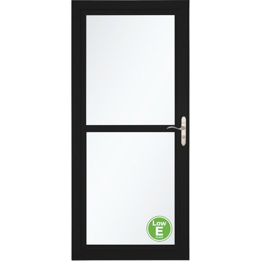 LARSON Tradewinds Low-E Black Full-View Aluminum Storm Door with Retractable Screen (Common: 36-in x 81-in; Actual: 35.75-in x 79.75-in)