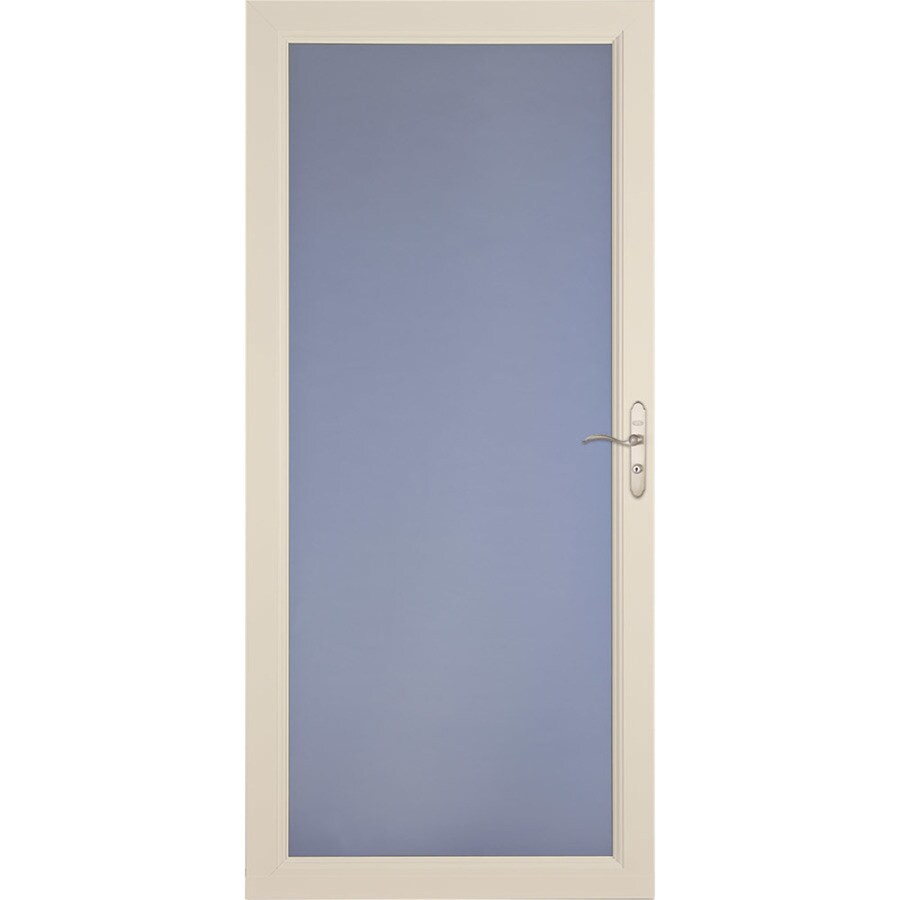 LARSON Signature Selection Almond Full-View Tempered Glass Fully Interchangeable Storm Door (Common: 36-in x 81-in; Actual: 35.75-in x 79.75-in)