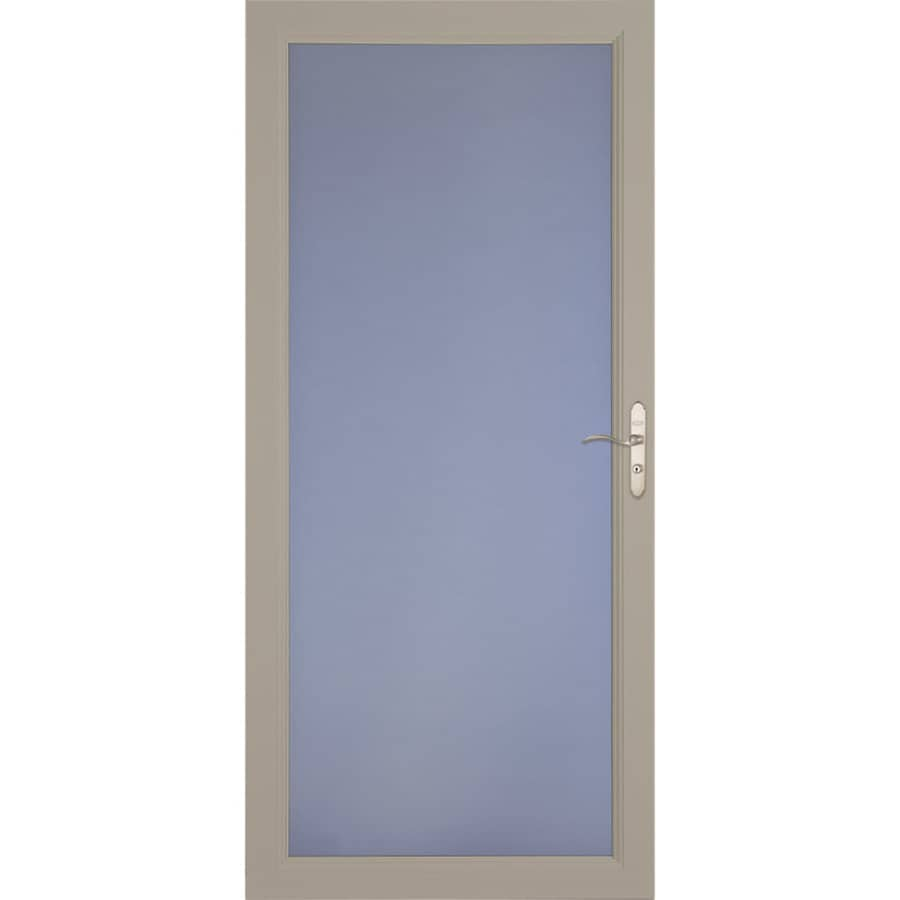 LARSON Signature Selection Sandstone Full-View Aluminum Standard Storm Door (Common: 36-in x 81-in; Actual: 35.75-in x 79.75-in)