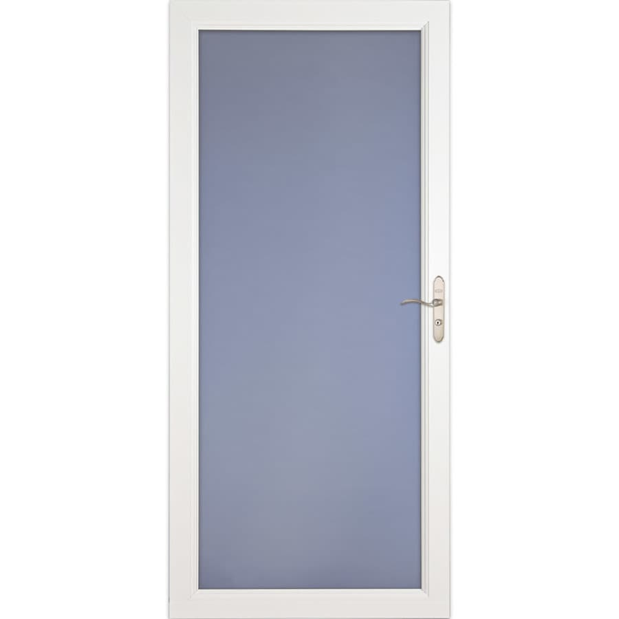 LARSON Signature Classic White Full-view Aluminum Standard Storm Door (Common: 32-in x 81-in; Actual: 31.75-in x 79.75-in)