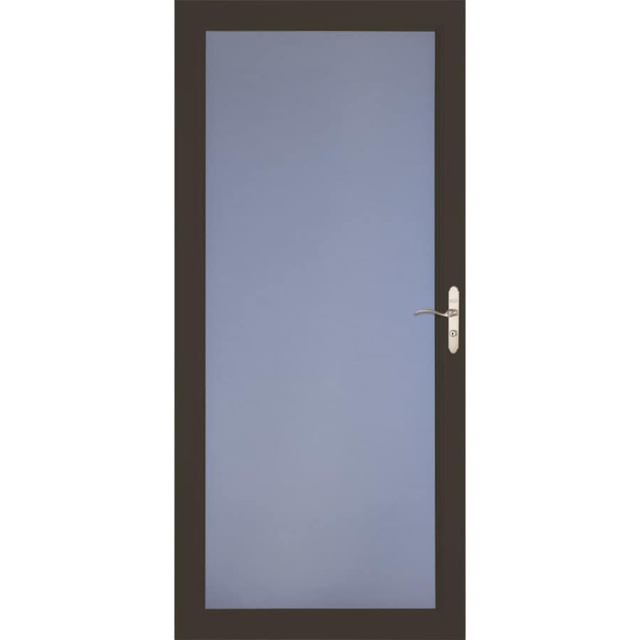 LARSON Signature Classic Brown Full-View Aluminum Standard Storm Door (Common: 36-in x 81-in; Actual: 35.75-in x 79.75-in)