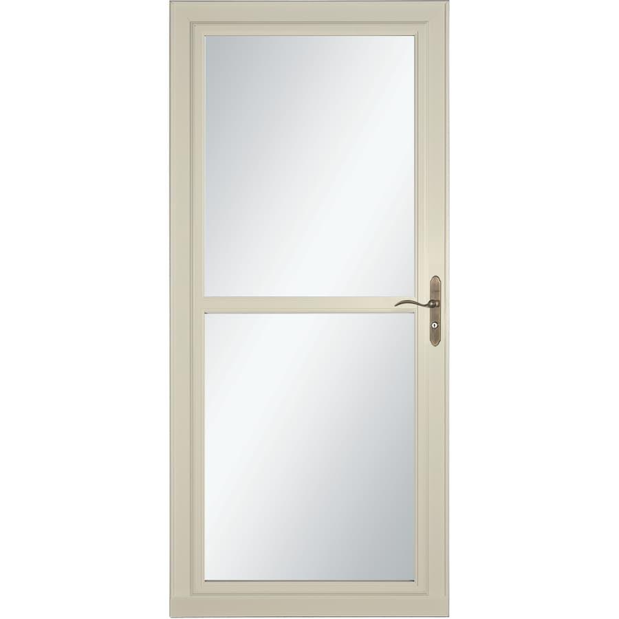 LARSON Tradewind Selection Almond Full-View Aluminum Storm Door with Retractable Screen (Common: 36-in x 81-in; Actual: 35.75-in x 79.75-in)