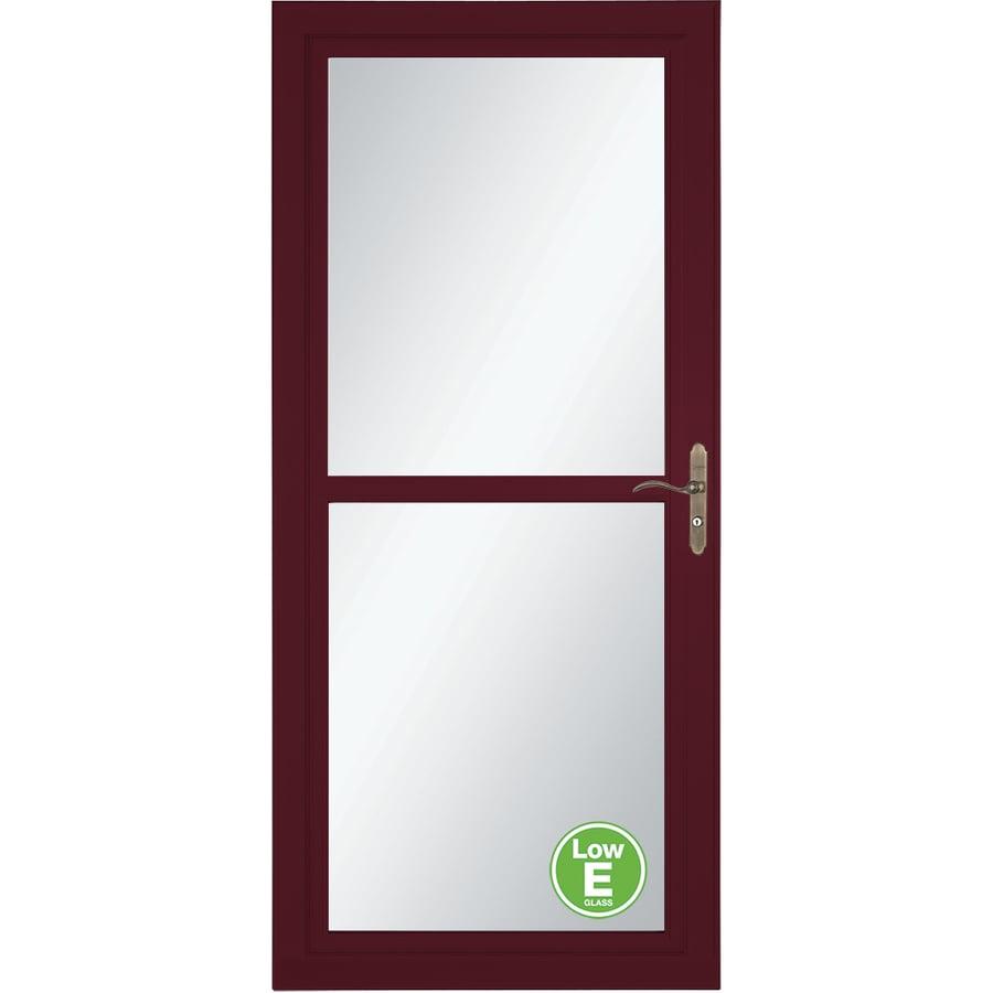 LARSON Tradewind Selection Cranberry Full-View Aluminum Storm Door with Retractable Screen (Common: 32-in x 81-in; Actual: 31.75-in x 79.75-in)