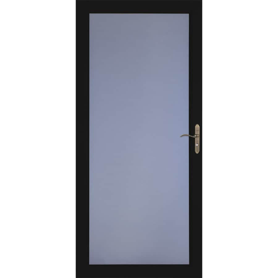 LARSON Signature Classic Black Full-view Aluminum Standard Storm Door (Common: 36-in x 81-in; Actual: 35.75-in x 79.75-in)