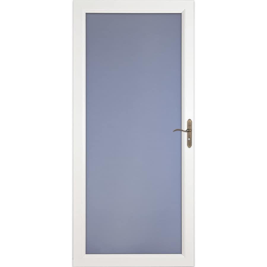 LARSON Signature Classic White Full-View Aluminum Standard Storm Door (Common: 32-in x 81-in; Actual: 31.75-in x 79.75-in)