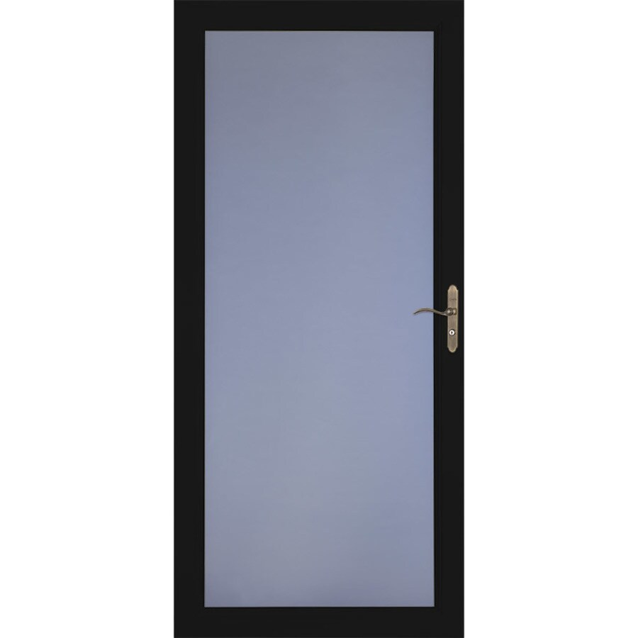 LARSON Signature Selection Black Full-View Aluminum Storm Door (Common: 32-in x 81-in; Actual: 31.75-in x 79.75-in)