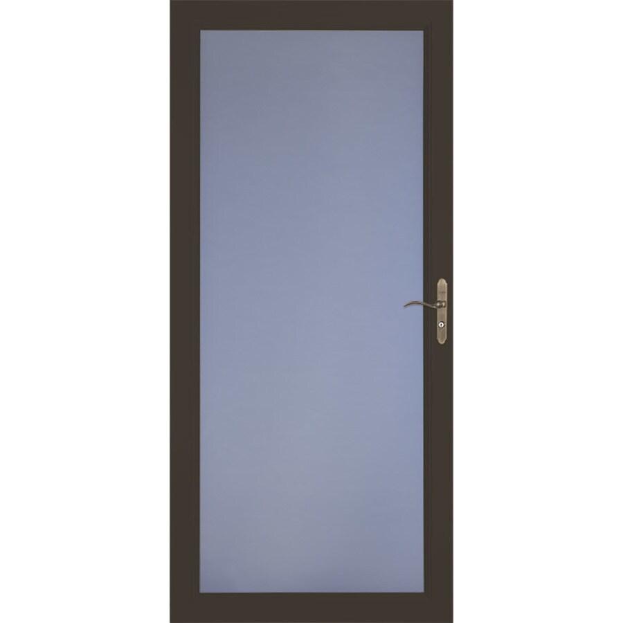 LARSON Signature Selection Brown Full-View Aluminum Standard Storm Door (Common: 36-in x 81-in; Actual: 35.75-in x 79.75-in)