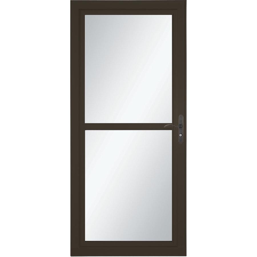 LARSON Tradewind Selection Brown Full-View Aluminum Storm Door (Common: 32-in x 81-in; Actual: 31.75-in x 79.75-in)