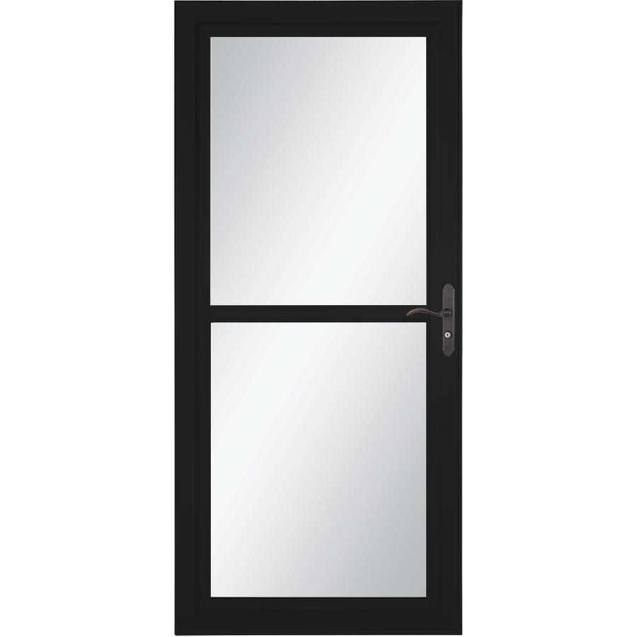 LARSON Tradewind Selection Black Full-View Aluminum Storm Door with Retractable Screen (Common: 32-in x 81-in; Actual: 31.75-in x 79.75-in)