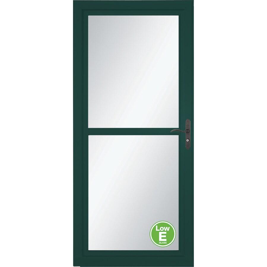 Shop Larson Tradewinds Low E Green Full View Aluminum Storm Door