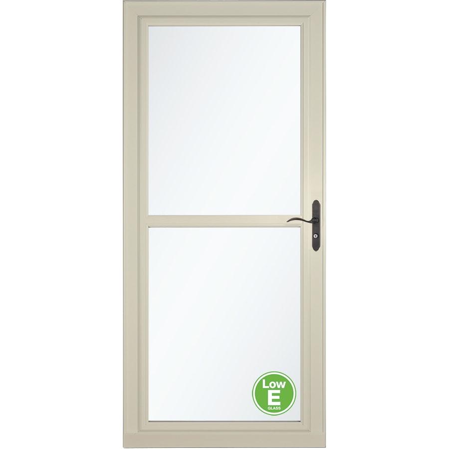 LARSON Tradewinds Low-E Almond Full-View Aluminum Storm Door with Retractable Screen (Common: 36-in x 81-in; Actual: 35.75-in x 79.75-in)