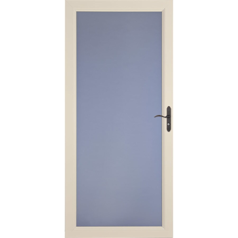 LARSON Signature Classic Almond Full-View Aluminum Standard Storm Door  (Common: 36-in x 81-in; Actual: 35.75-in x 79.75-in)