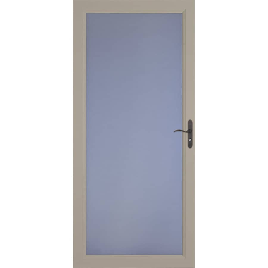 LARSON Signature Classic Sandstone Full-View Aluminum Standard Storm Door (Common: 32-in x 81-in; Actual: 31.75-in x 79.75-in)