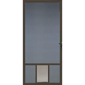 Comfort Bilt Pet Breeze Brown Aluminum Hinged Door Screen Common 32