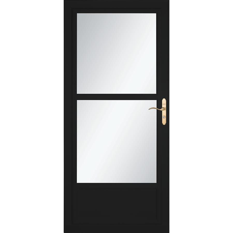 Shop Larson Tradewinds Black Mid View Aluminum Storm Door With