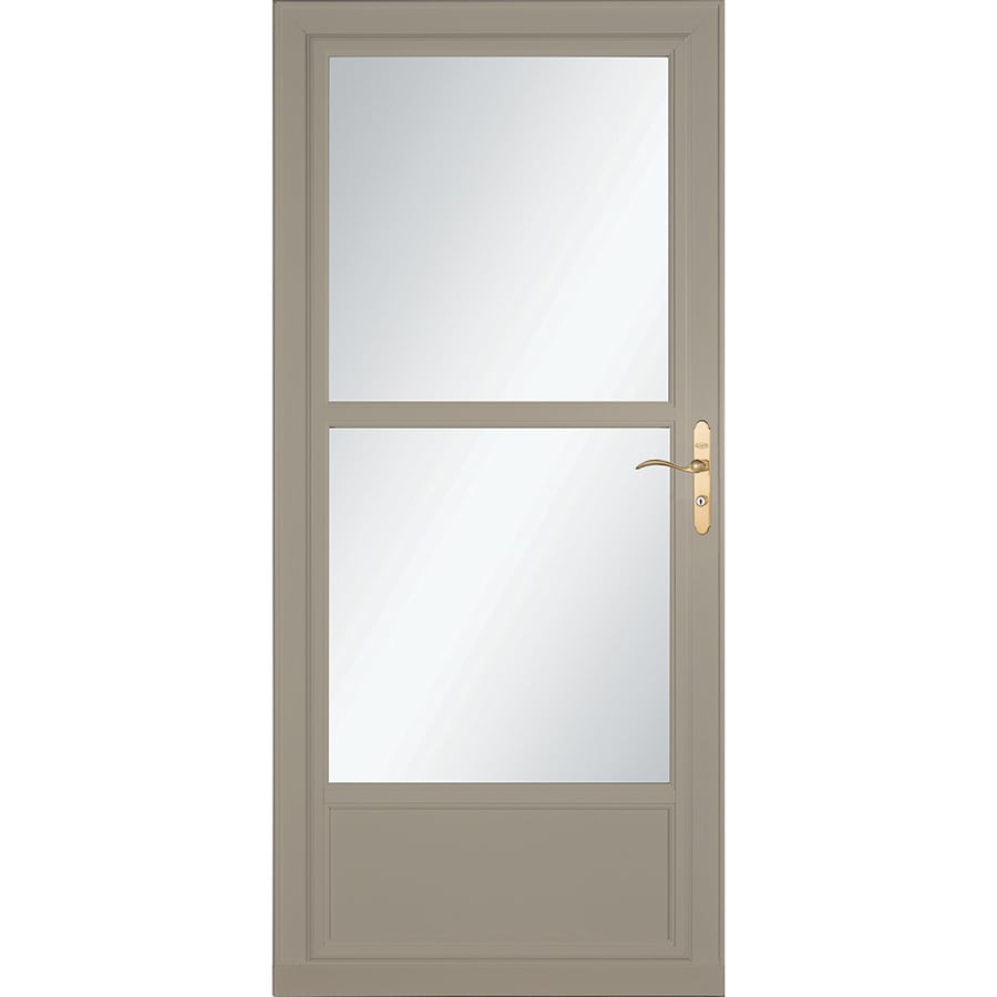 Shop larson tradewinds selection sandstone mid view for Disappearing screen doors lowes