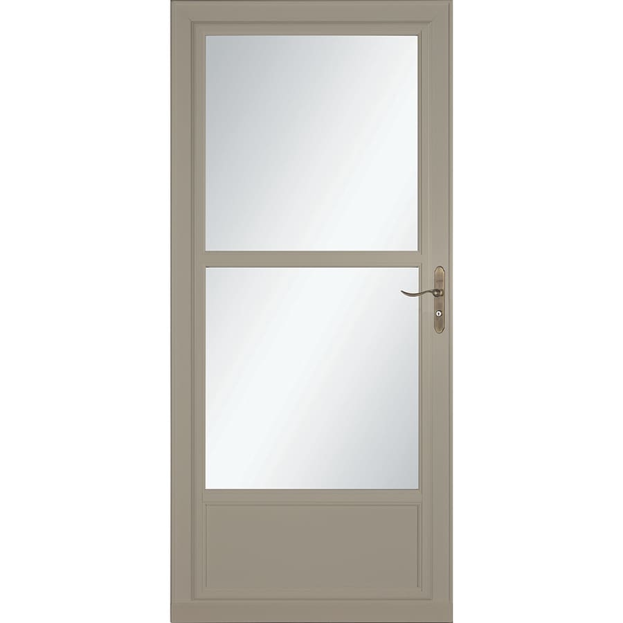 Shop larson tradewinds selection sandstone mid view for Best retractable screen door reviews