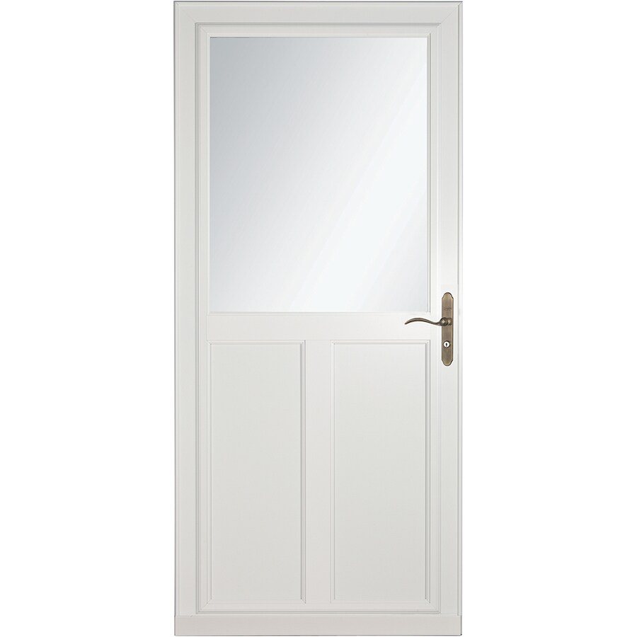 Larson screen doors menards storm doors awesome for Storm door with roll up screen