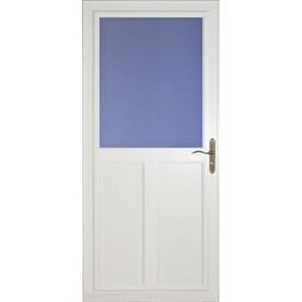 LARSON Tradewinds Highview High View Aluminum Storm Door (Common: 36 In X