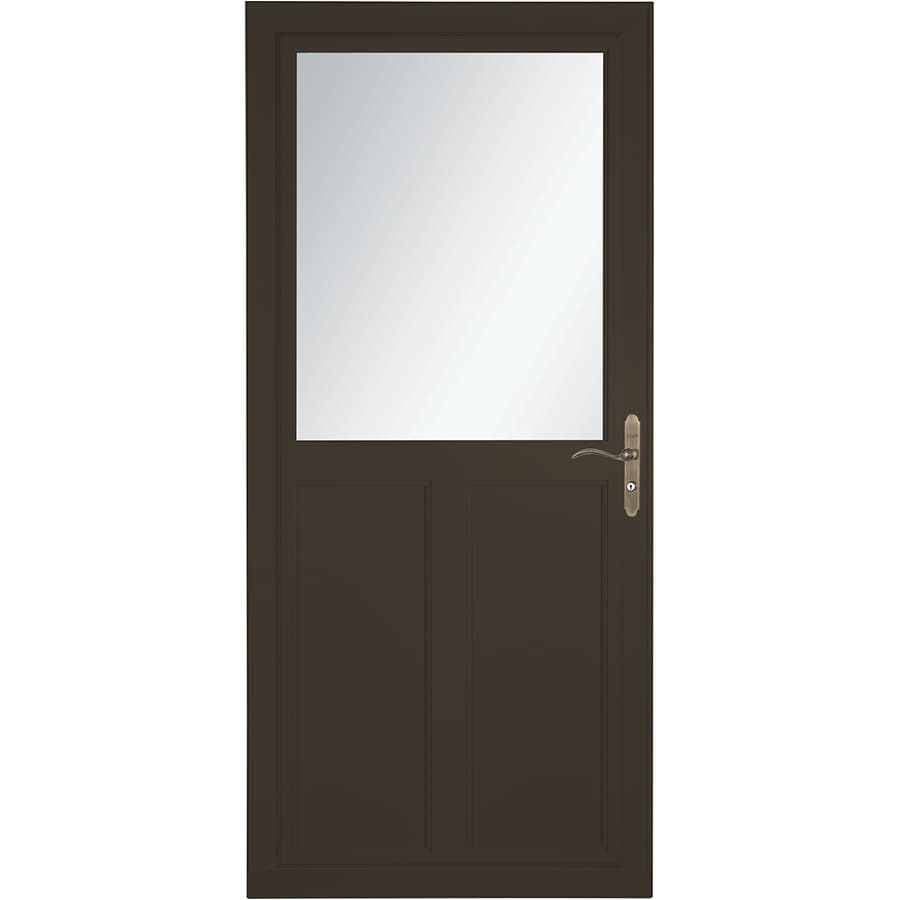 Shop larson tradewinds selection brown high view aluminum for 36 inch storm door
