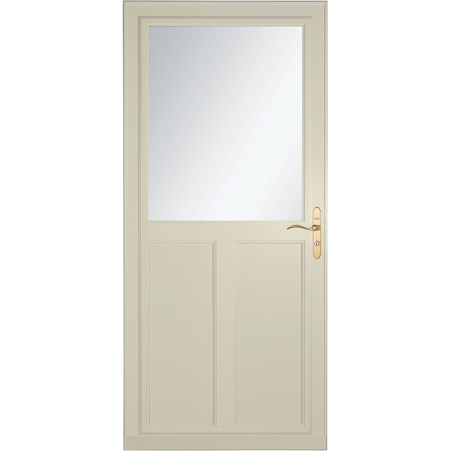 LARSON Tradewinds Selection Almond High-View Aluminum Storm Door with Retractable Screen (Common: 32-in x 81-in; Actual: 31.75-in x 79.75-in)