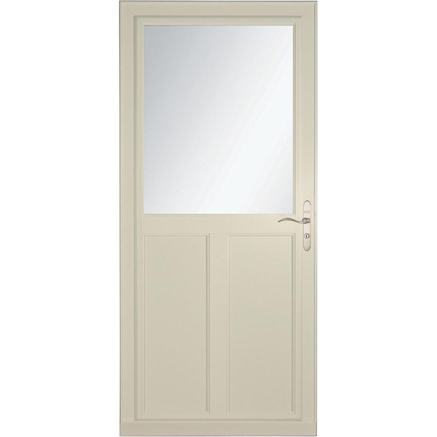 LARSON Tradewinds Selection Almond High-View Aluminum Storm Door with Retractable Screen (Common: 36-in x 81-in; Actual: 35.75-in x 79.75-in)