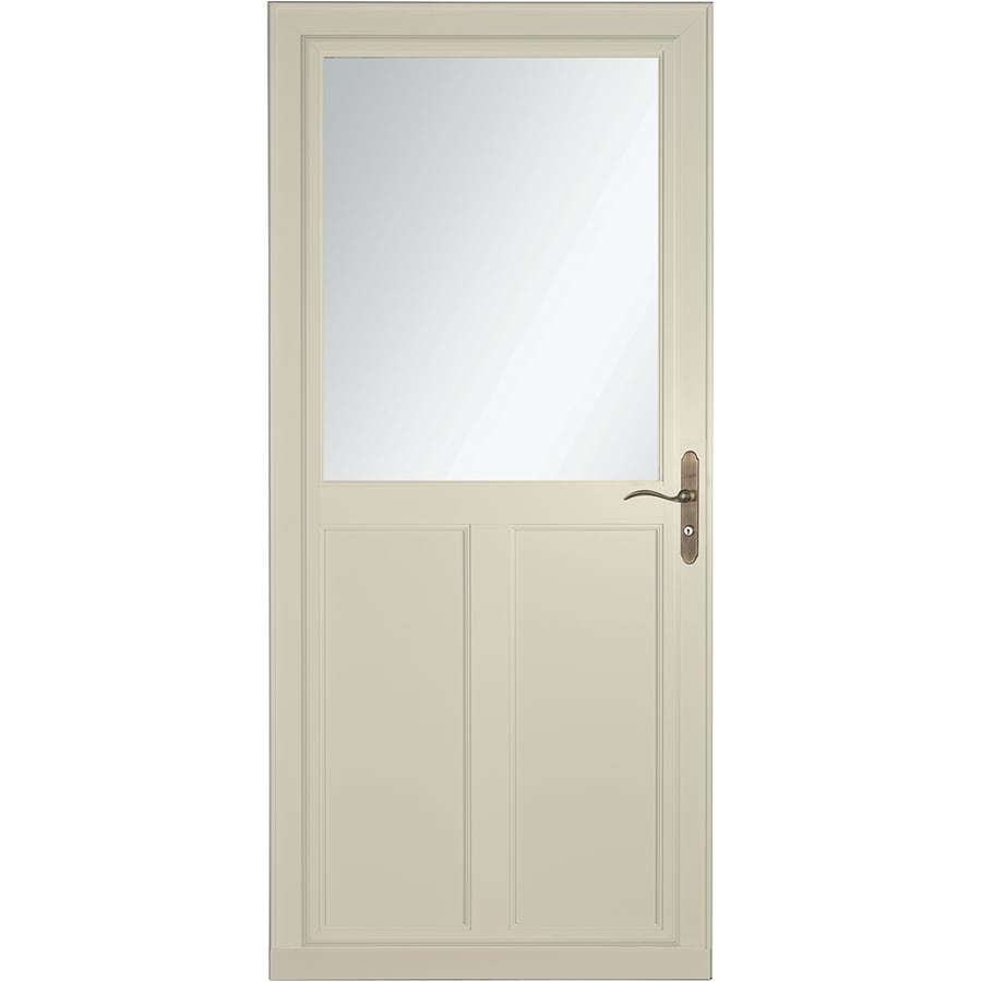 LARSON Tradewinds Selection Almond High-View Aluminum Storm Door with Retractable Screen (Common: 36-in x 81-in; Actual: 35.75-in x 79.75-in)