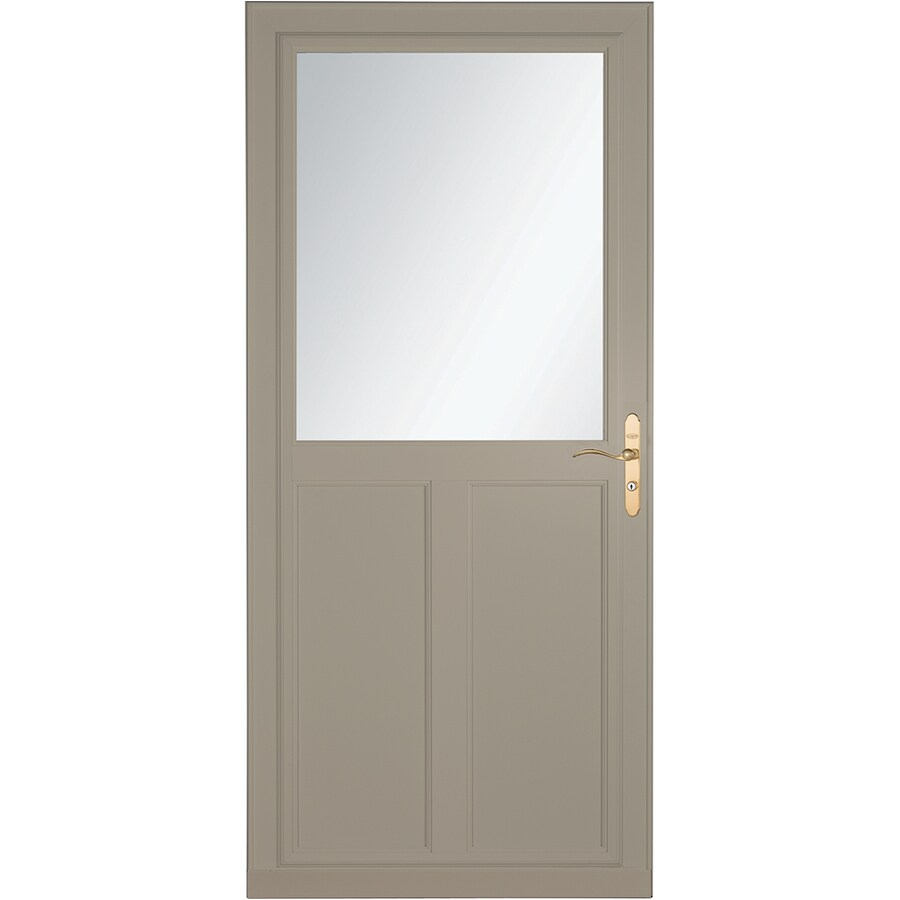LARSON Tradewinds Selection Sandstone High-View Aluminum Storm Door with Retractable Screen (Common: 36-in x 81-in; Actual: 35.75-in x 79.75-in)