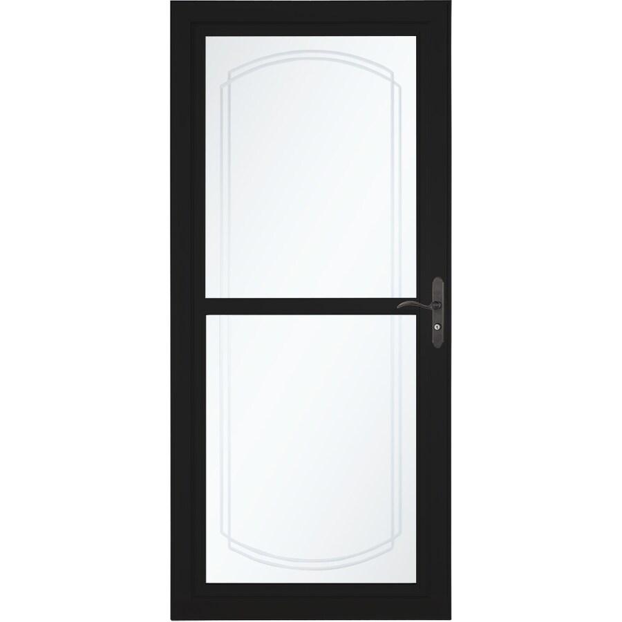 Shop Larson Tradewinds Bevel Black Full View Aluminum Storm Door