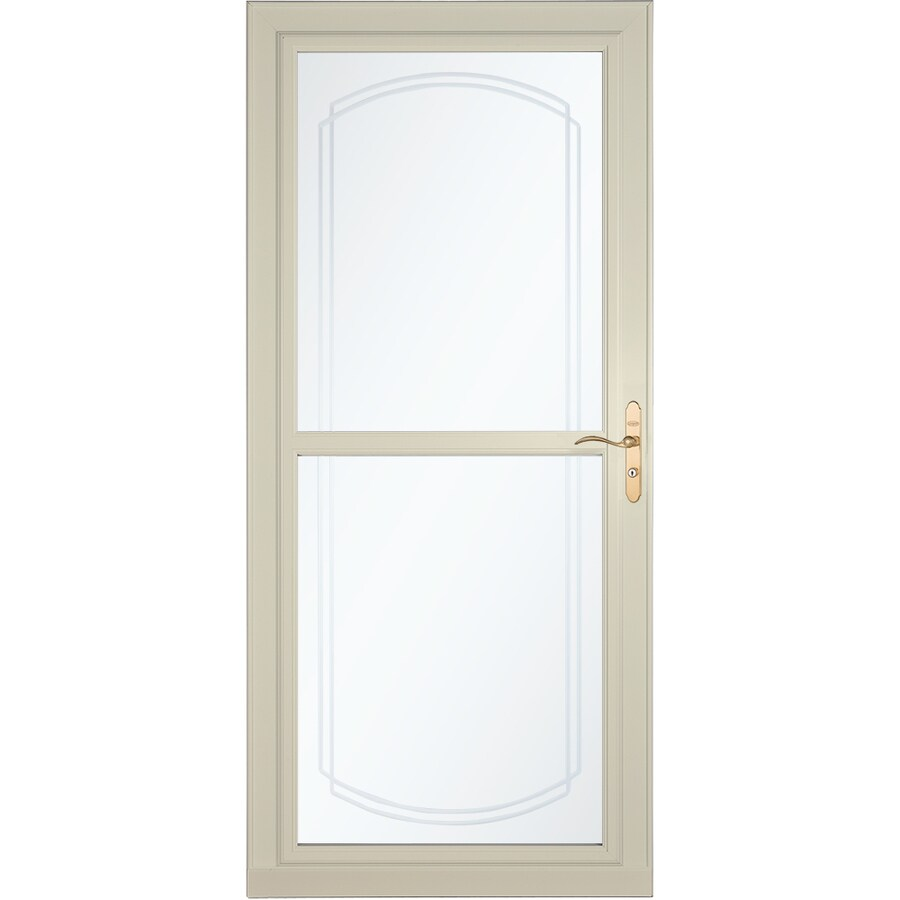 LARSON Tradewinds Selection Almond Full-View Aluminum Storm Door with Retractable Screen (Common: 36-in x 81-in; Actual: 35.75-in x 79.75-in)