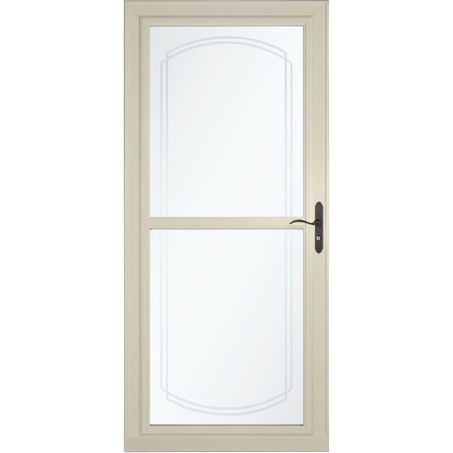 LARSON Tradewinds Selection Almond Full-View Aluminum Storm Door with Retractable Screen (Common: 36-in x 81-in; Actual: 35.75-in x 79.75-in)