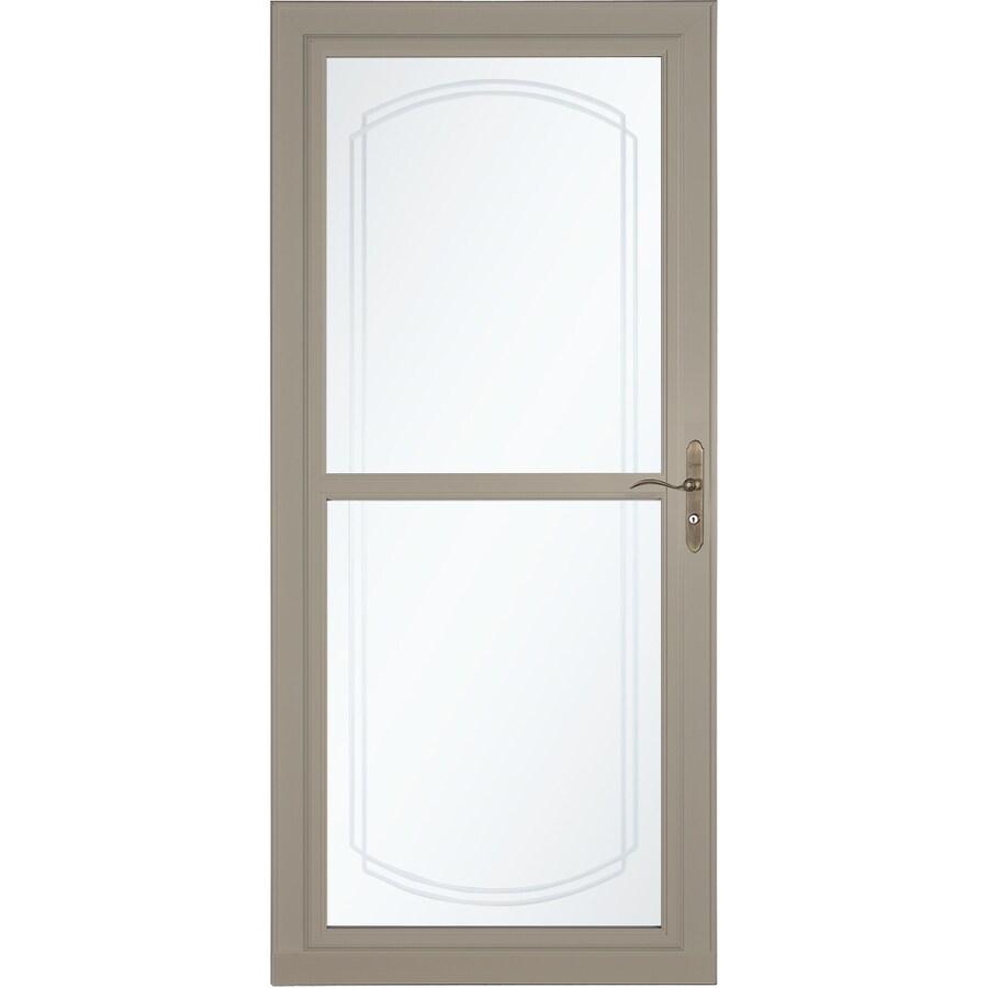 LARSON Tradewinds Selection Sandstone Full-View Aluminum Storm Door with Retractable Screen (Common: 36-in x 81-in; Actual: 35.75-in x 79.75-in)