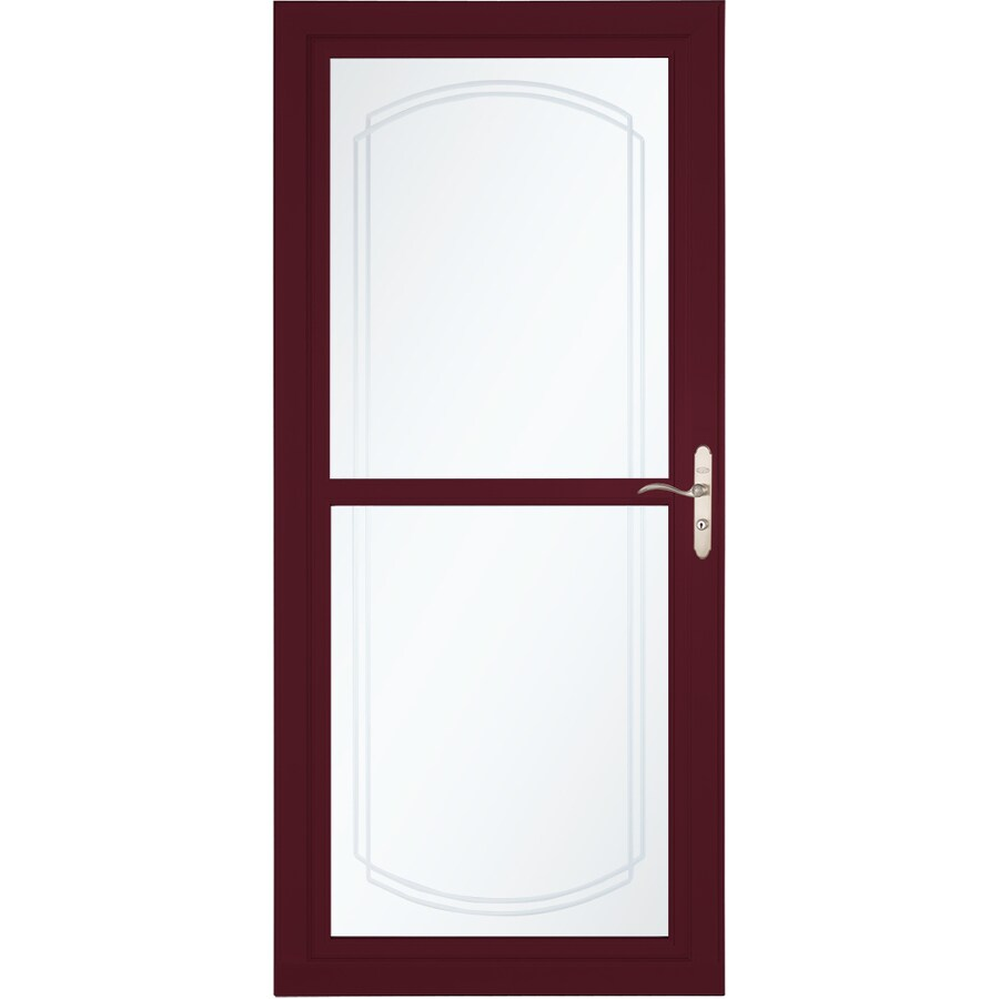 LARSON Tradewinds Selection Cranberry Full-View Aluminum Storm Door with Retractable Screen (Common: 36-in x 81-in; Actual: 35.75-in x 79.75-in)