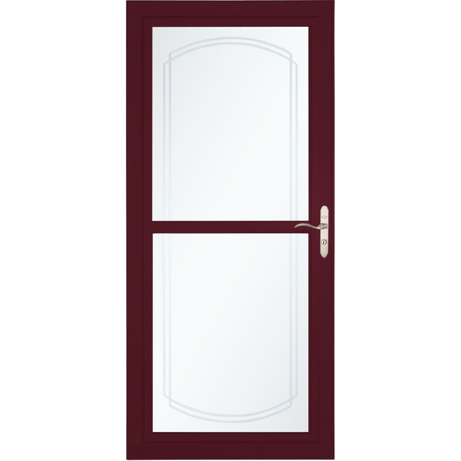 LARSON Tradewinds Selection Cranberry Full-View Aluminum Storm Door with Retractable Screen (Common: 36-in x 81-in; Actual: 35.75-in x 79.75-in)