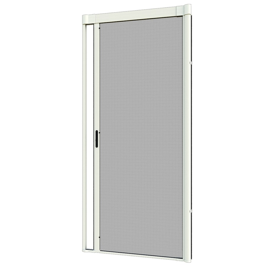 LARSON Escape Premium White Aluminum Retractable Screen Door (Common: 36 In  X 80