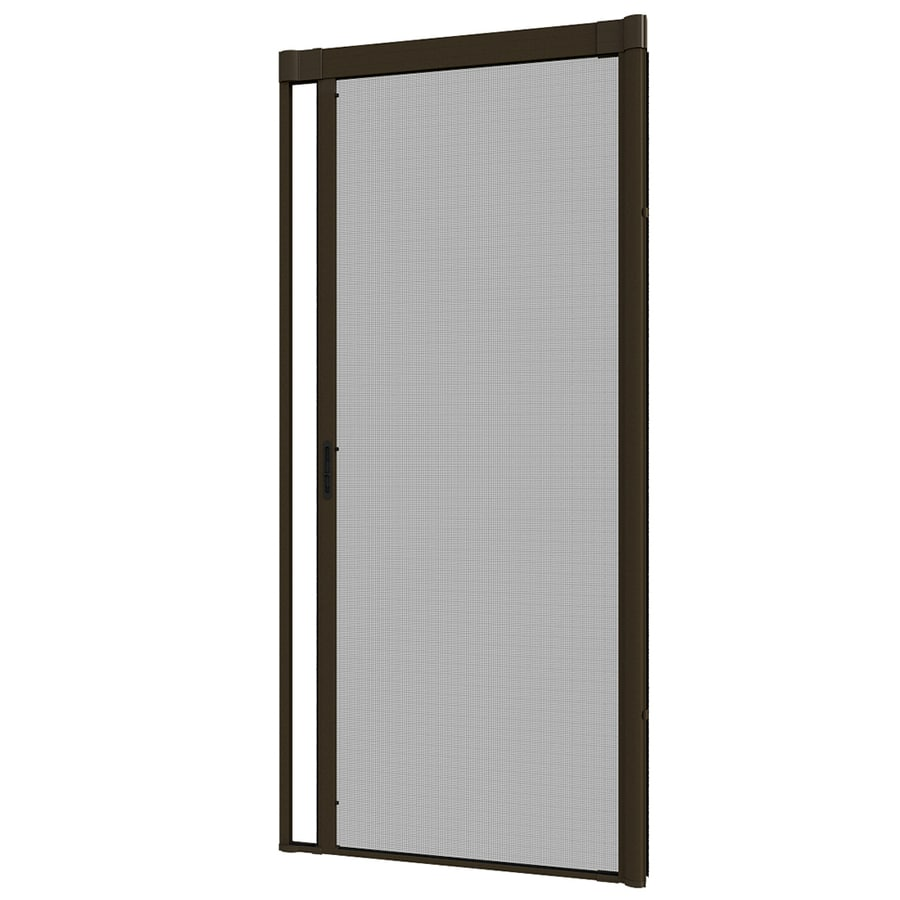 Larson Escape Premium Brown Aluminum Retractable Screen Door Common 36 In X 80