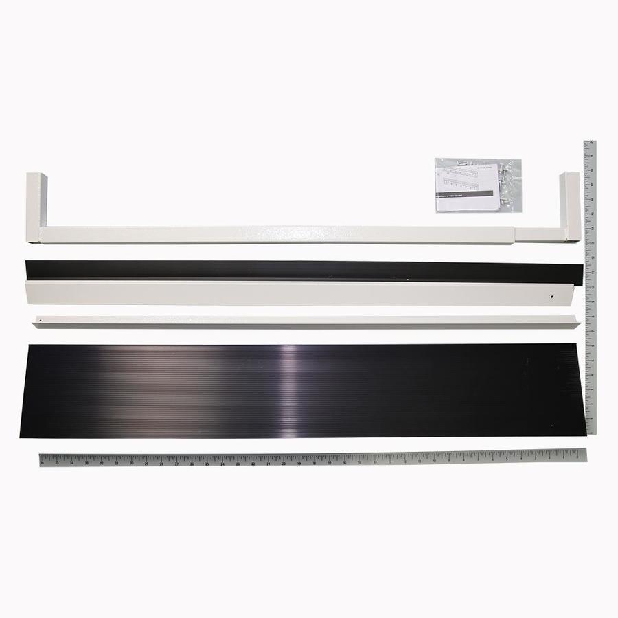 Gatehouse 3-ft White Aluminum/Vinyl Door Weatherstrip