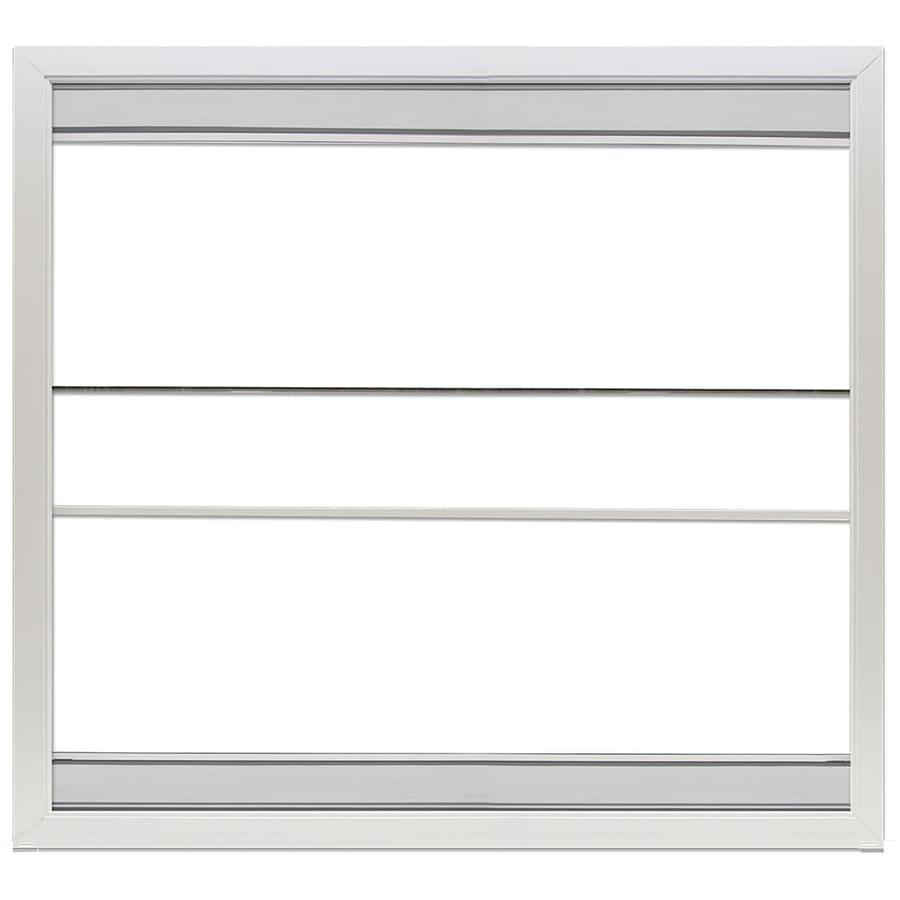 LARSON Scenix White Single Pane Tempered Porch Window with Retractable Screen (Rough Opening: 44.5-in x 72-in; Actual: 44-in x 71.5-in)