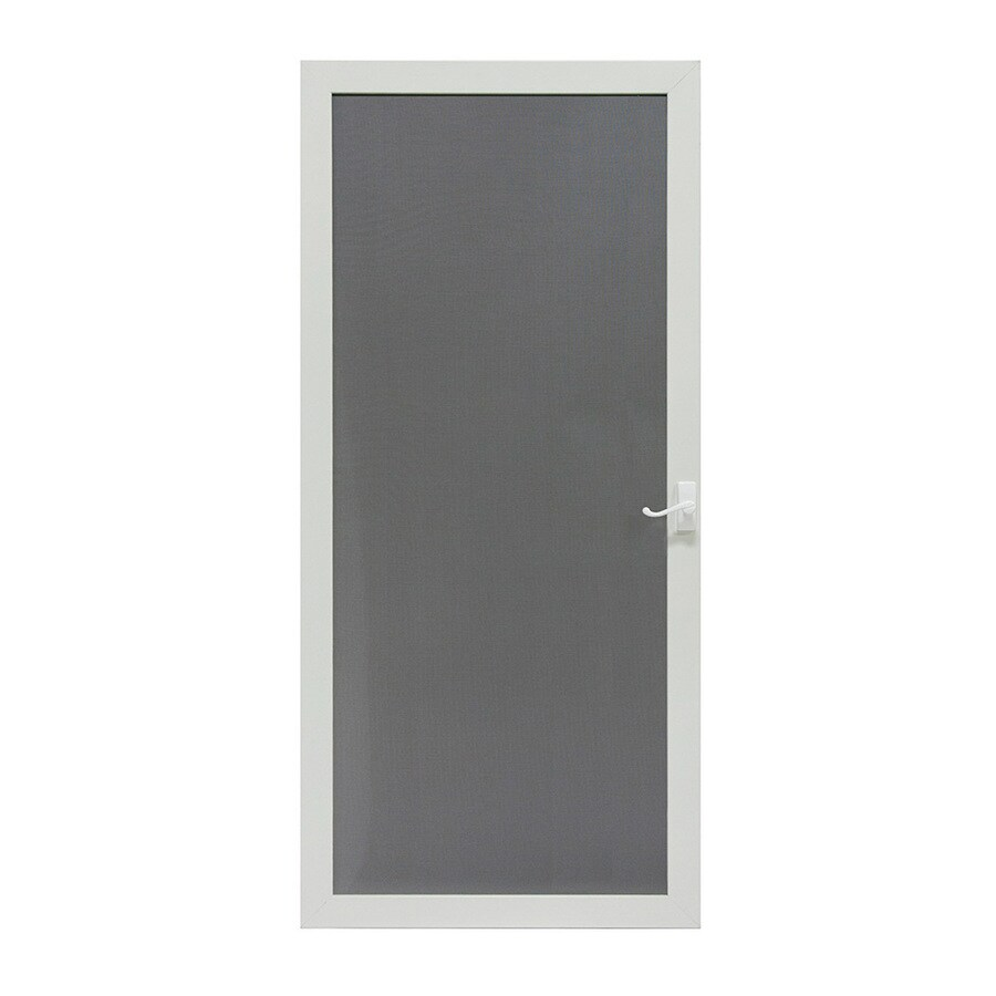 Shop Larson Pembrook White Aluminum Hinged Screen Door