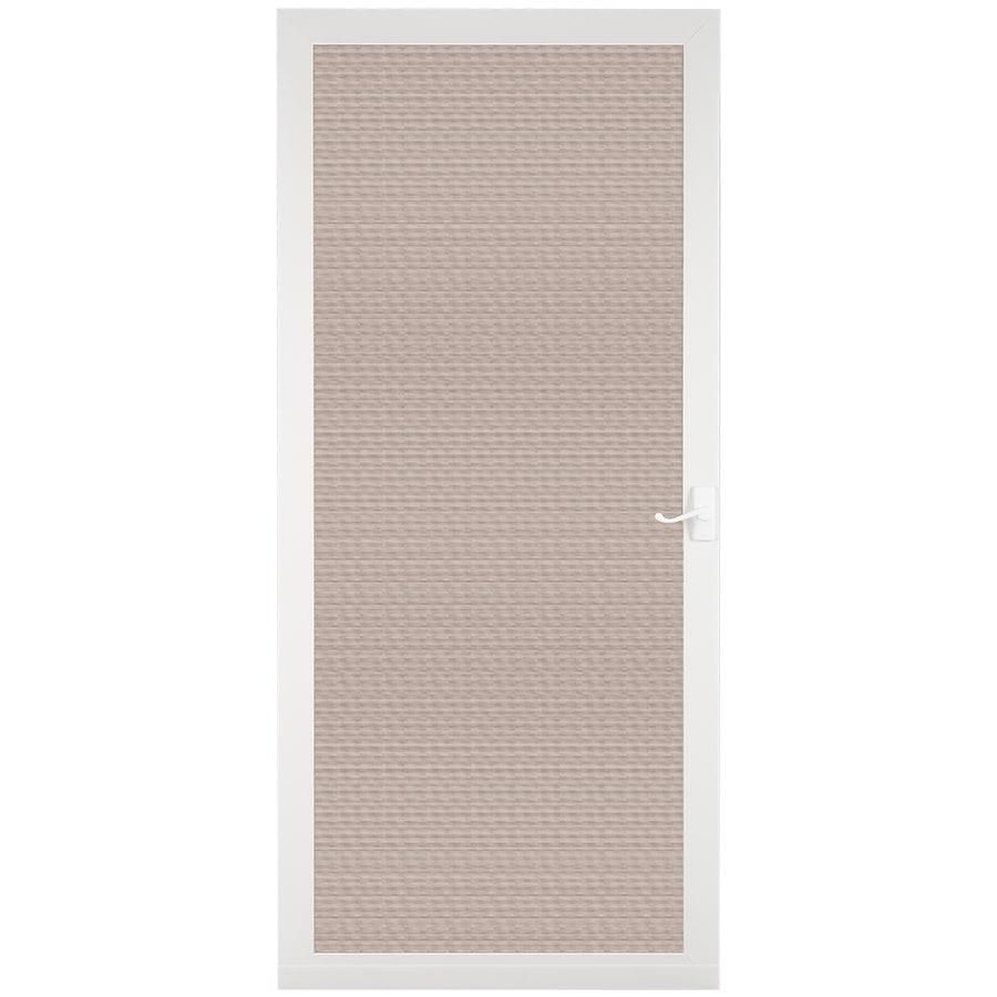 LARSON Pembrook White Aluminum Hinged Screen Door (Common: 32-in x 81-in; Actual: 31.75-in x 79.75-in)