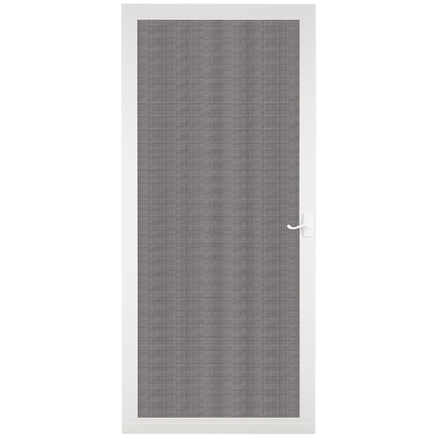 LARSON Pembrook White Wood Hinged Screen Door (Common: 36-in x 81-in; Actual: 35.75-in x 79.75-in)